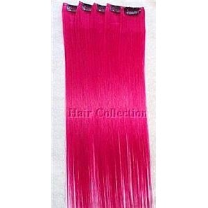 Hot pink hair extensions clip in indian remy hair hot pink hair extensions clip in 68 pmusecretfo Choice Image